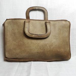 Vintage messenger leather bag